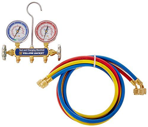 Yellow Jacket 41709 Series 41 Manifolds With 212 Gauge 60 Plus Ii Standard Fittings Barpsi R410a Best Value Buy On Amazon