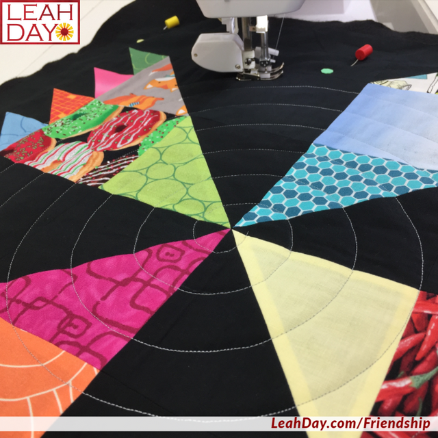 Walking Foot Quilting On A Scrappy Pinwheel Block Free Motion Quilting Project With Leah Day Walking Foot Quilting Free Motion Quilting Book Quilt