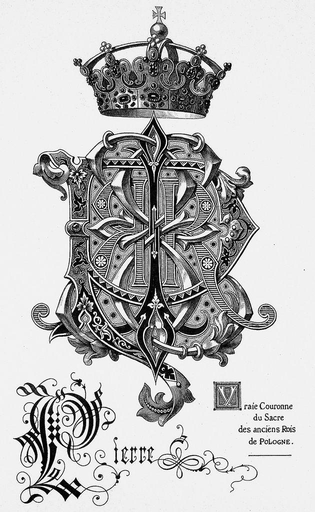 """Monogram """"de Pierre"""" by Charles Demengeot - 1877"""