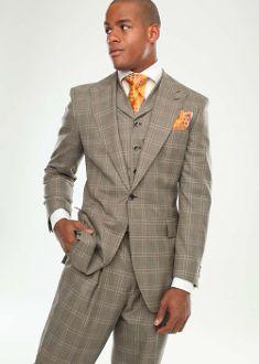 Steven Land Brown Glen Plaid Fashion Suit - Arthur SL1514 -Men's ...