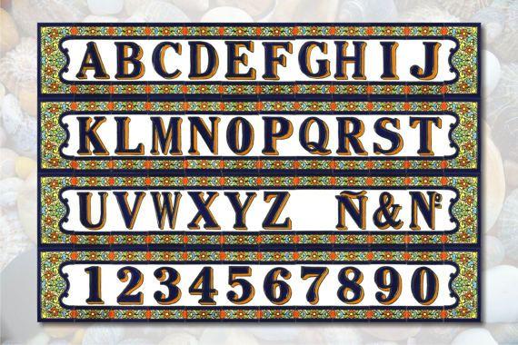 4 Spanish Mosaic Ceramic Letter Tile Handmade Ceramic Letter House Number Tile Ceramic Number Tile Ceramic Loose Text Til Loose Tile Custom Mosaic Glazed Tiles