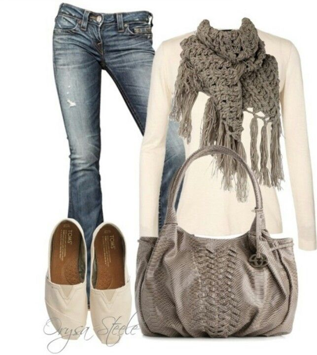 Cute and comfy school outfit. And it's not sweatpants!