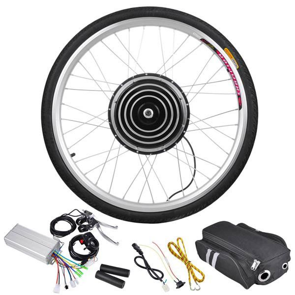 Thediyoutlet 26 Inch 48v 1000w Electric Bike Conversion Motor Kit Front Rear Opt Electric Bicycle Kit Electric Bicycle Electric Bicycle Conversion Kit