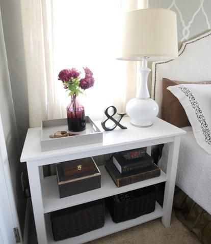 Love This Small Bookcase Used As A Nightstand