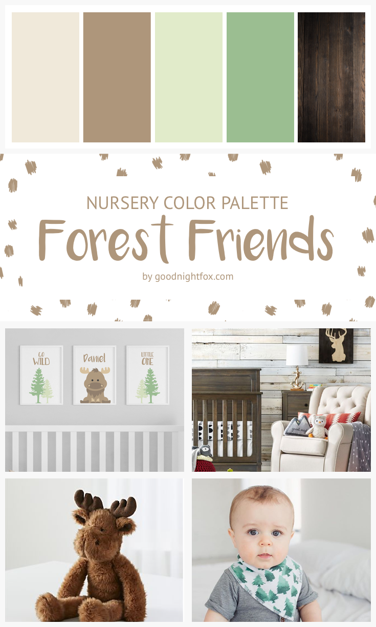 Forest Friends Nursery Color Palette Woodland Boy