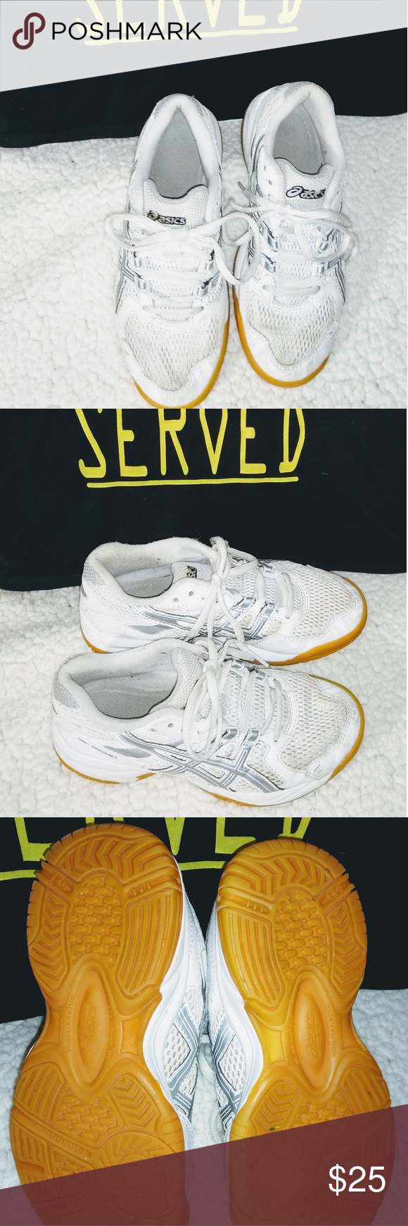 Asics White Volleyball Shoes Youth Size 2 5 Vguc Asics White Volleyball Shoes Youth Size 2 5 Never Worn Outdoors Some Visable Wear See In 2020 Volleyball Shoes Shoes Asics