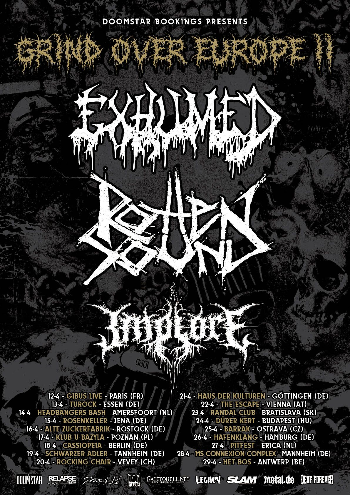 Grind Over Europe Ii Tour Prasentiert Von Death Metal Europe