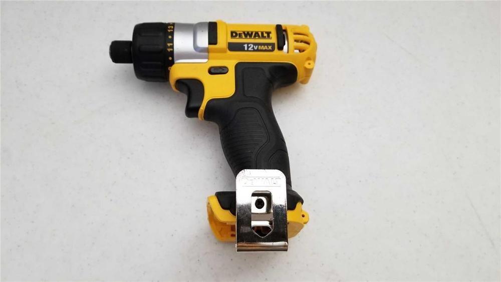 Used Dewalt Dcf610 Screwdriver Cordless Tool 12volt Max Bare Tool Type 3 Cordless Tools Dewalt Tools