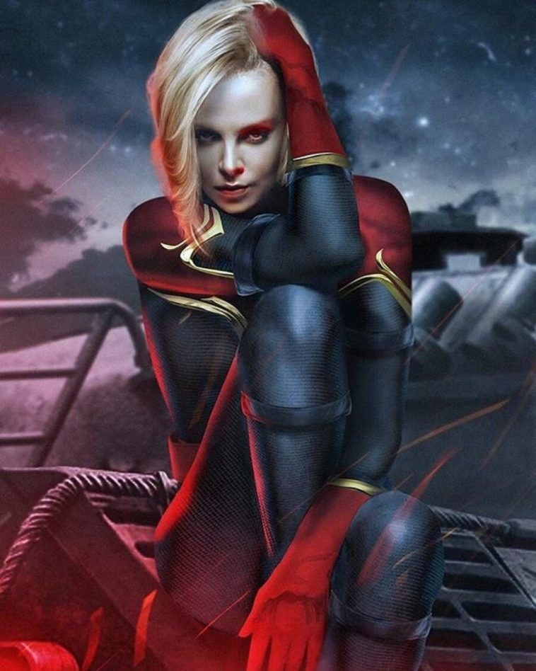 Charlize Theron As Captain Marvel Captain Marvel Marvel Best Avenger