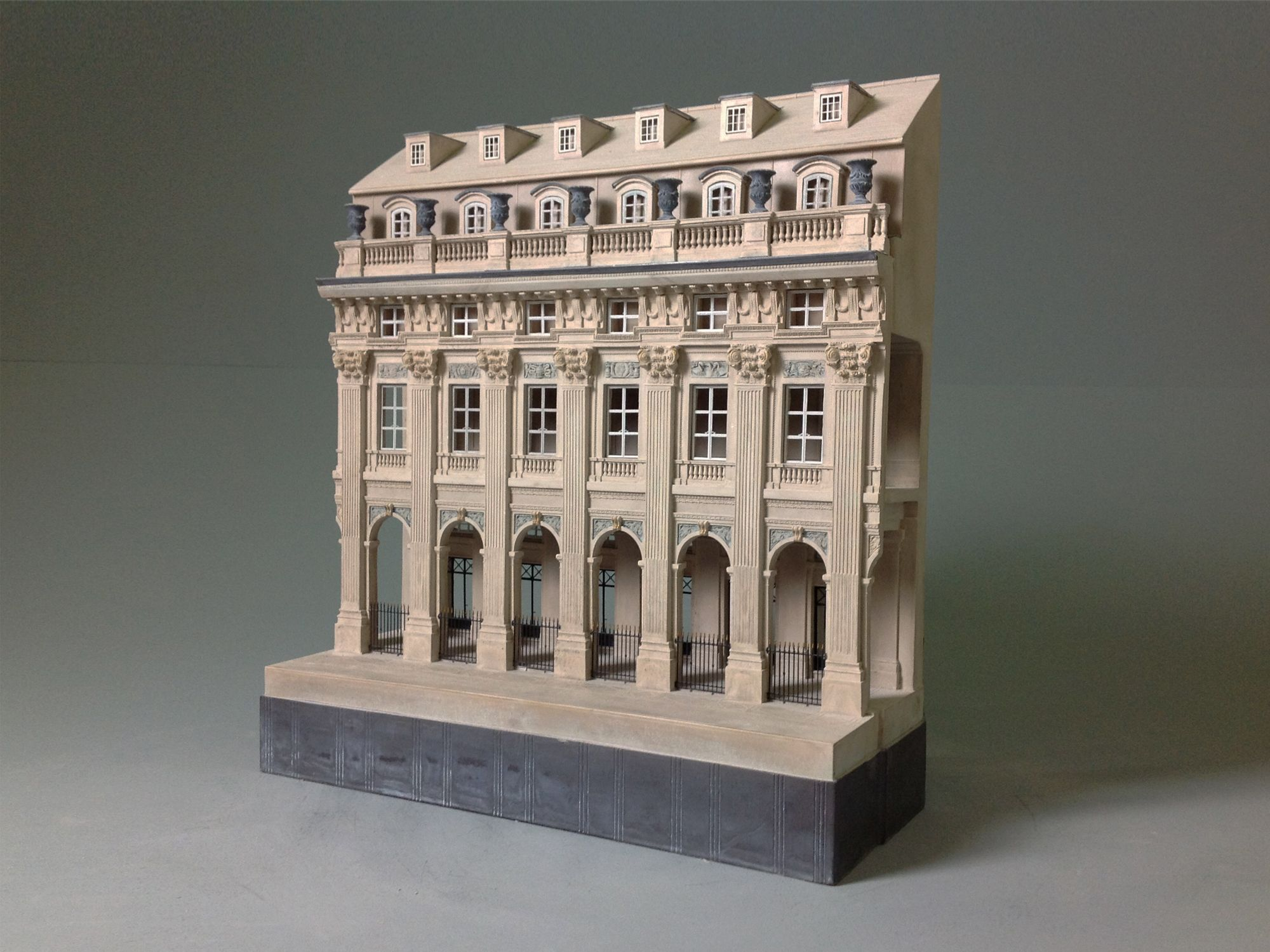 A hand made plaster architectural model of the palais royale paris a limited edition