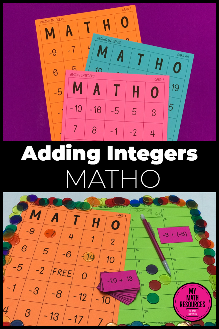 My Math Resources Adding Integers Matho Bingo Game Adding Integers Math Integers Math [ 1102 x 735 Pixel ]
