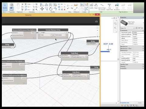 Autodesk Revit Dynamo: Tag Sloped Bottom of Pipe - YouTube