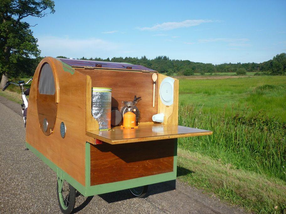 Fietscaravan, Fahrradwohnwagen, Bicycle Caravan, Bicycle