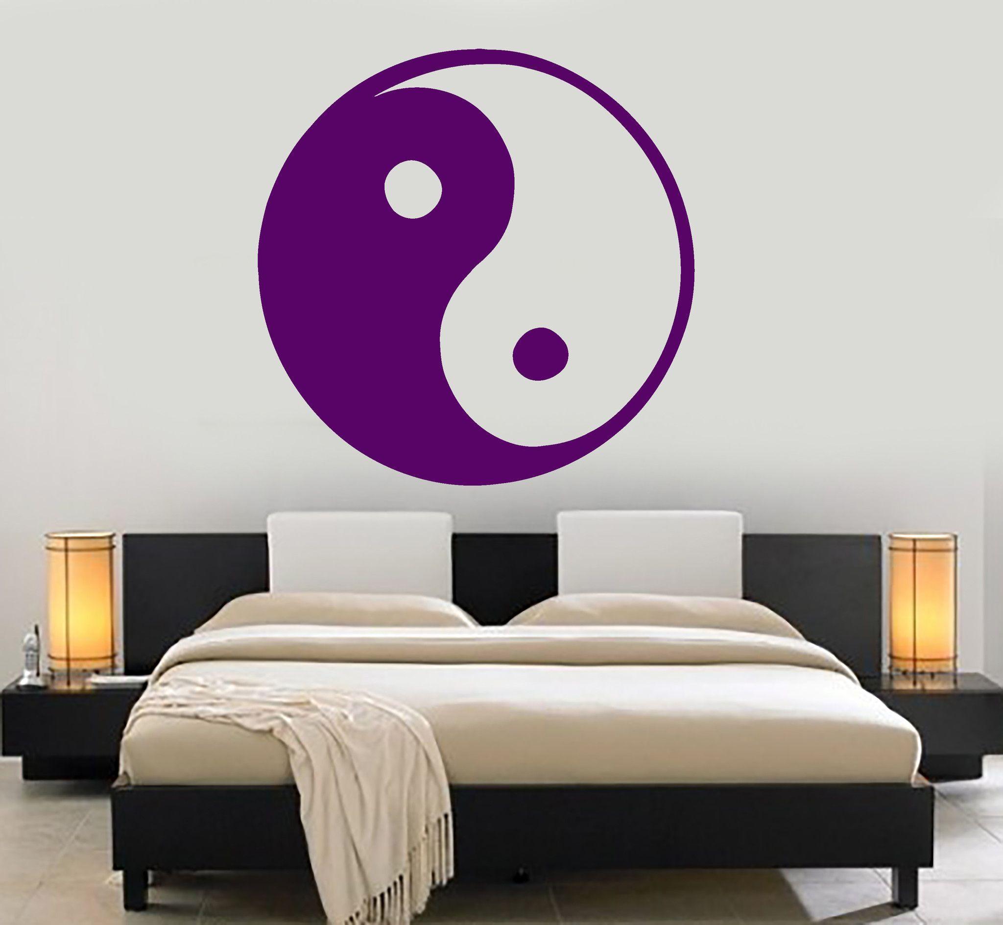 Vinyl Wall Decal Yin Yang Symbol Asian Decor Room Design Stickers - Vinyl wall decals asian
