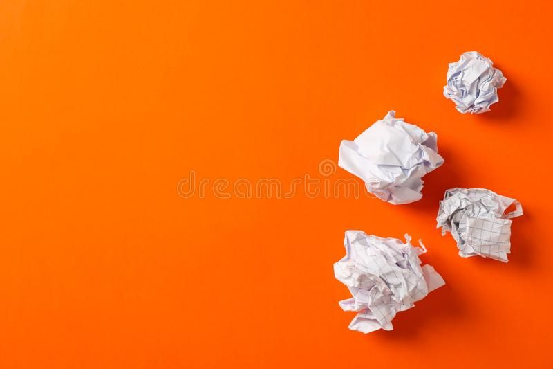 Flat Lay Composition With Crumpled Paper Balls On Color Background Space For Te Sponsored Crumpled Paper Composition Crumpled Paper Paper Balls Color