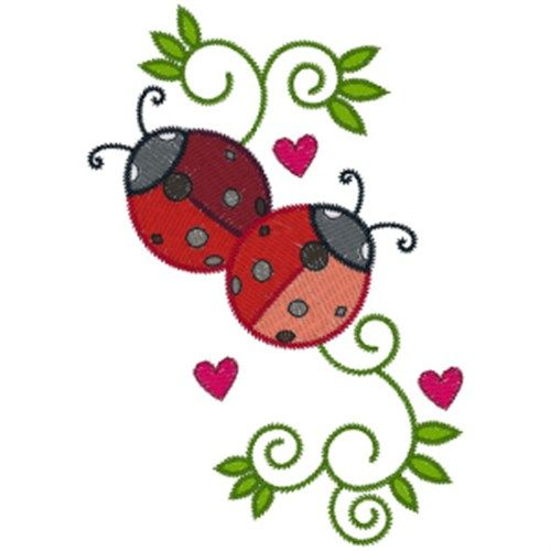 Swirls Embroidery Design Ladybugs From Annthegran Amicah