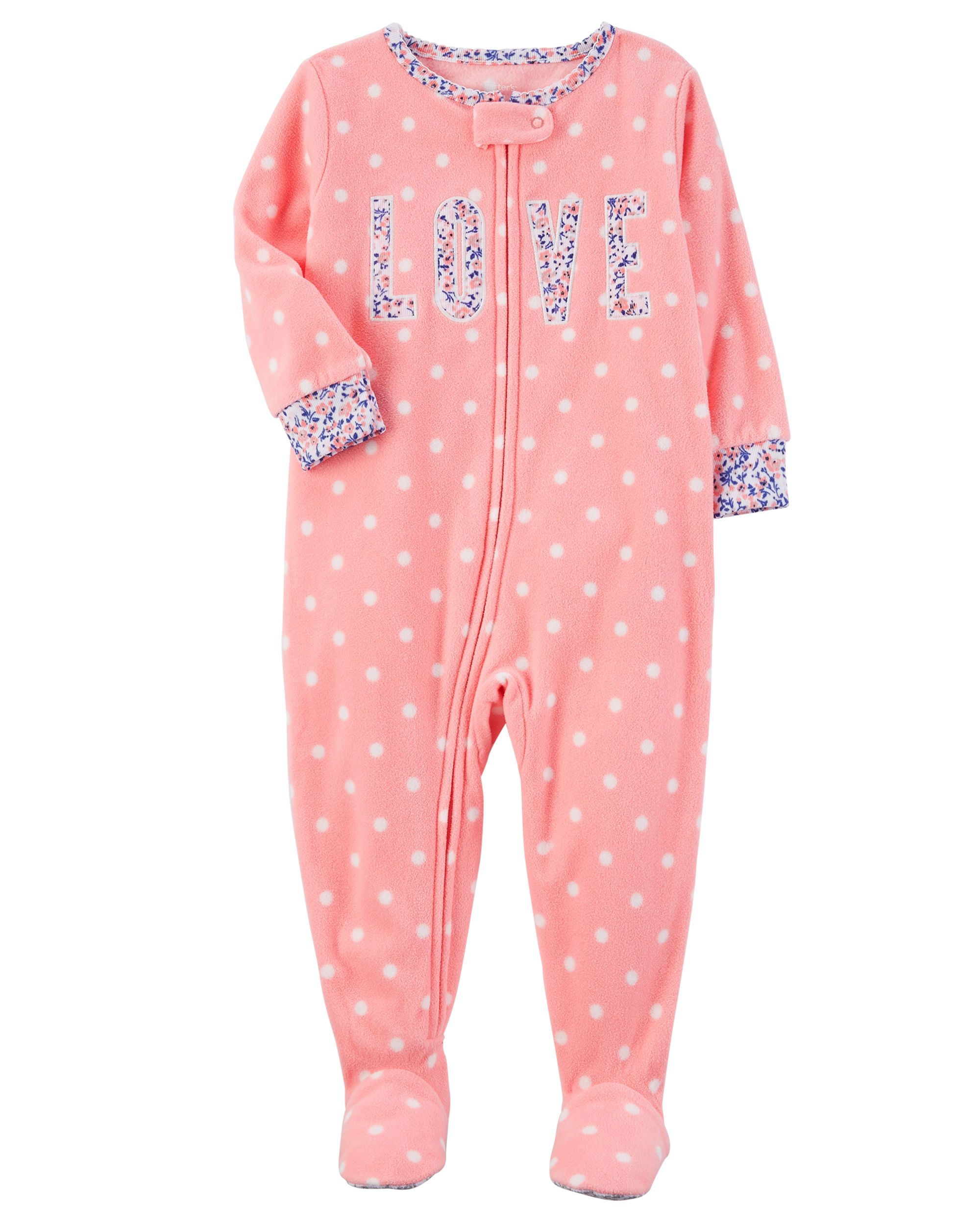 girl piece plush onepiece bebe one sleepers carters soft baby sleeper bon months p s