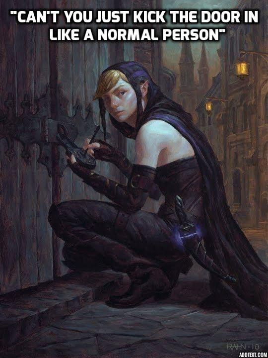 Female Pick Lock Fantasy Art Dd