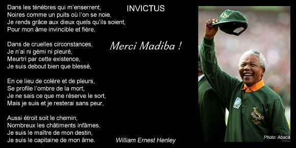 Invictus Le Poème Préféré De Nelson Mandela Nelson