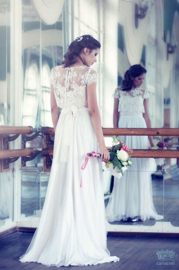 Erröten Hochzeitskleid / / Fleur / / 2 Stück von CarouselFashion ...