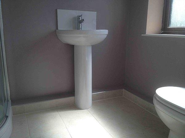 Tiled Box In W Chrome Trimming By Uk Bathroom Guru Bathroom Installation Bathroom Basin Vanity Unit