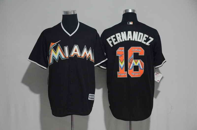 146122a21 ... Jersey 21 Miami Marlins 16 Jose Fernandez Black MLB Majestic Cool Base  Mens Stitched Team Logo ...