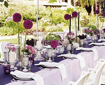 Wedding etiquette purple outdoor weddings purple wedding and this purple outdoor wedding tablescape is so festive and full of fun junglespirit Gallery
