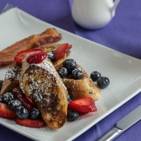 Delightful Gluten Free French Toast with Macerated Berries