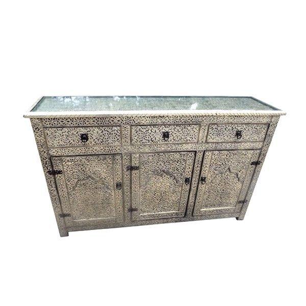 Moroccan Arabesque Console Storage Buffet Arabic Furniture Drawer Large  #Handmade #Moroccan