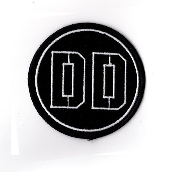 Metal Gear Solid Diamond Dogs Logo Embroidered Patch Snake Phantom Pain 3 4 V