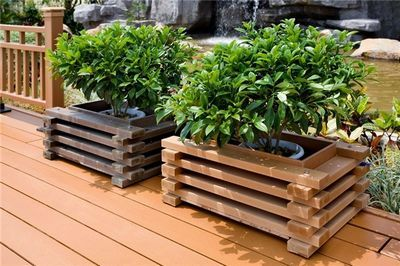 Outdoor Wooden Planter Boxes.Outdoor Wood Substitute Flower Boxes Garden Planter Boxes