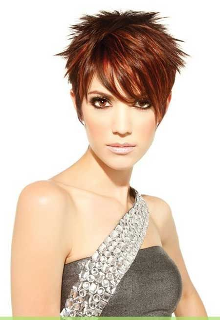 35 Short Hair Color Trends 2013 – 2014  red pixie cut