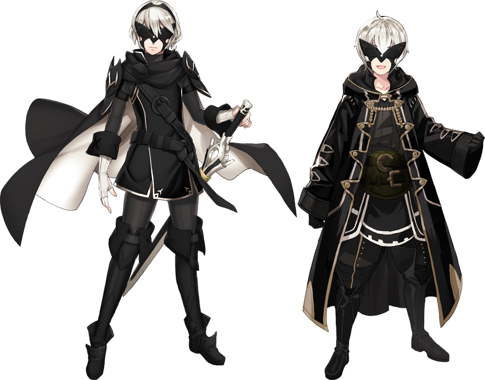 Yorha Recolors Masked Marth And Male Morgan Fireemblemheroes Fire Emblem Heroes Fire Emblem Character Design Inspiration
