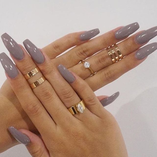 Long Coffin Nails | Gorgeous nail ideas | Pinterest | Coffin nails ...