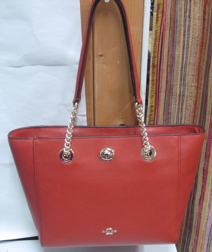 3a6cfc36c Coach turnlock chain tote 27 | Bags & Wallets | Purses, bags, Bags ...