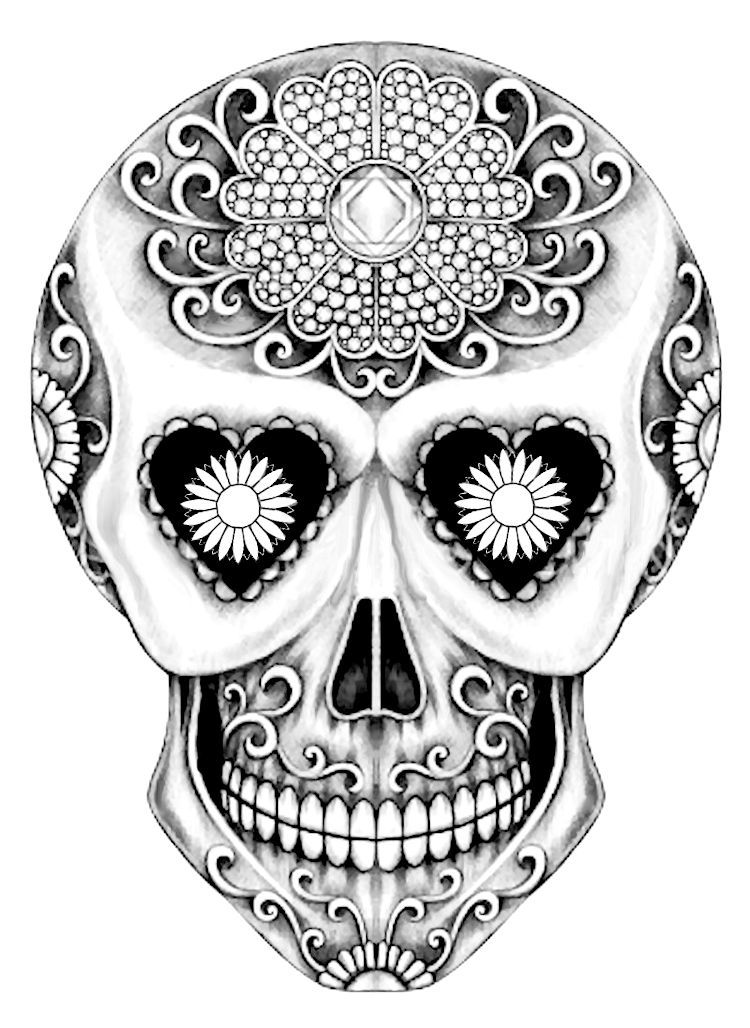 32+ Day of the dead coloring pages printable info