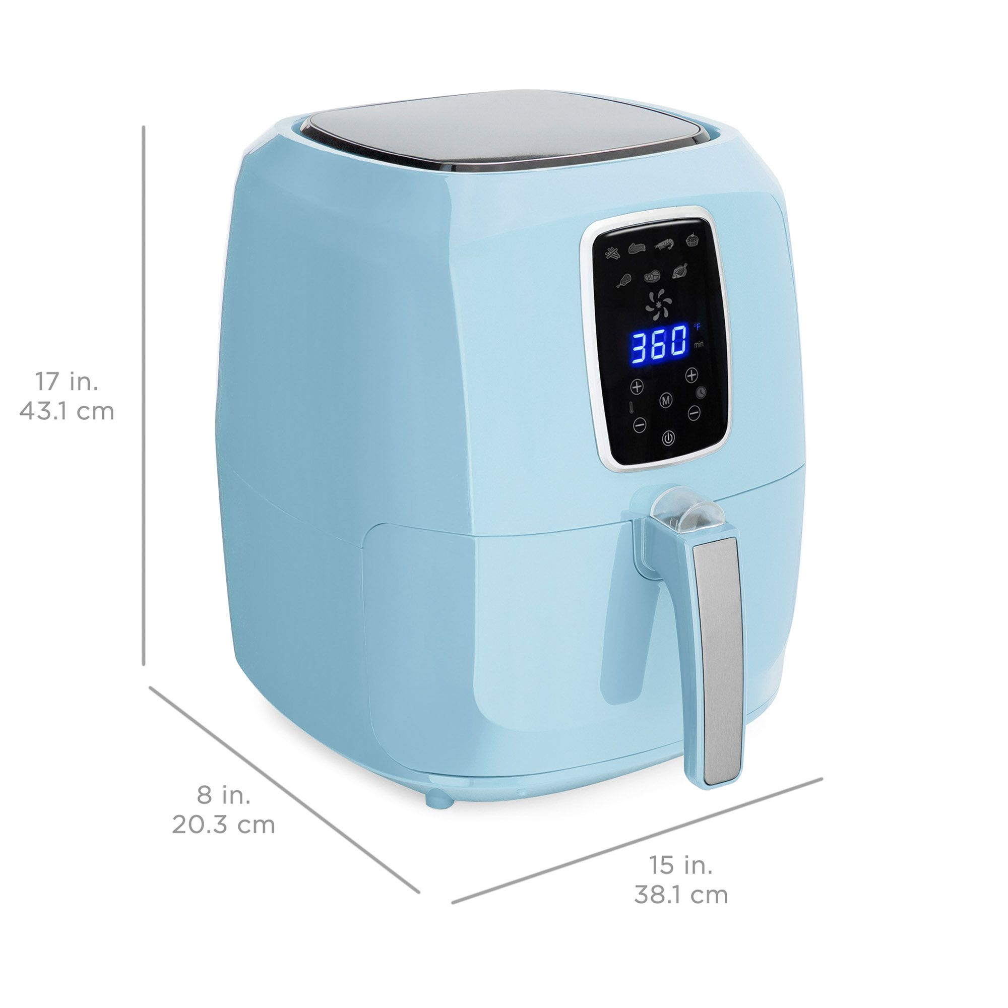 Best Choice Products 5 5qt 7 In 1 Electric Digital Non Stick Air Fryer Kitchen Appliance W Lcd Screen Timer Red Walmart Com Kitchen Appliances Cooking Temperatures Timer