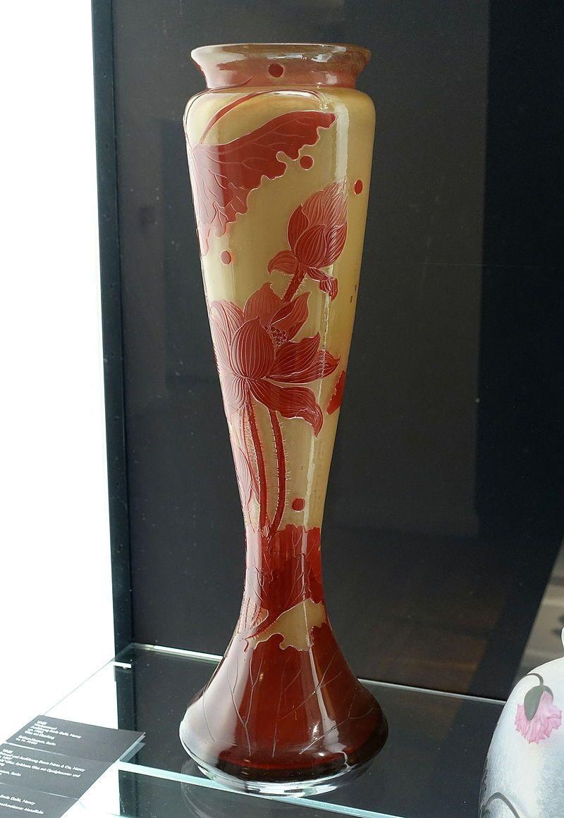 Vase, Emile Galle, Nancy, c. 1903, glass - Bröhan Museum, Berlin - DSC03960.JPG