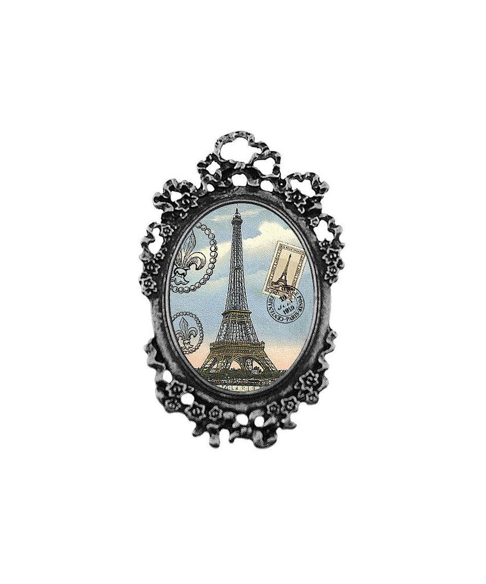 Love this Antique Silvertone Eiffel Tower Hair Tie by LAVISHY on #zulily! #zulilyfinds