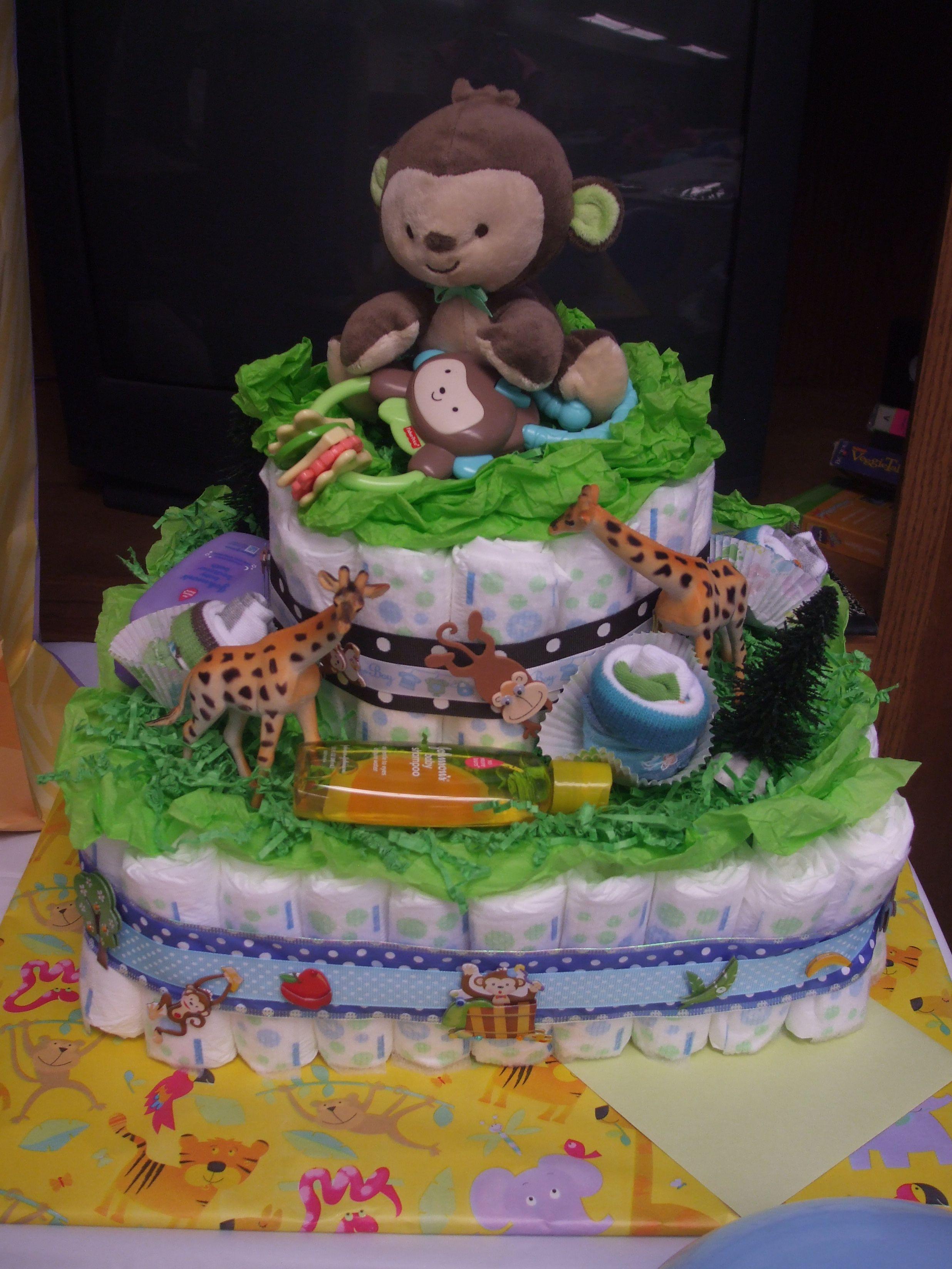 27+ Baby boy diaper cake jungle theme ideas
