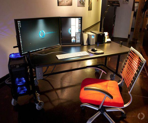 dual computer desk computers and desks inspiration indretning rh pinterest dk