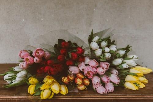 اجمل بوكيه ورد طبيعي صور اجمل بوكيه ورد طبيعي جميل Zina Blog Tulip Decor Tulip Bouquet Flowers