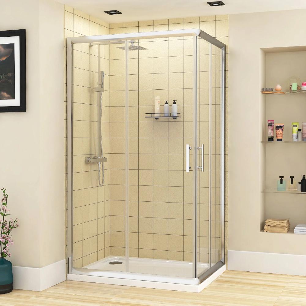 Plaza 1000 X 700mm Rectangular Corner Entry Shower Enclosure Sliding Door In 2020 Shower Enclosure Shower Cubicles Sliding Doors