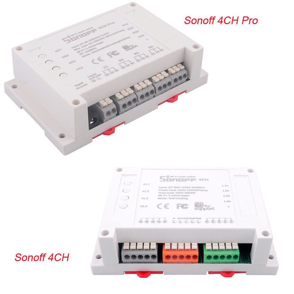 Sonoff 4CH Pro 4 Channel Din Rail Mounting WiFi Smart Switch
