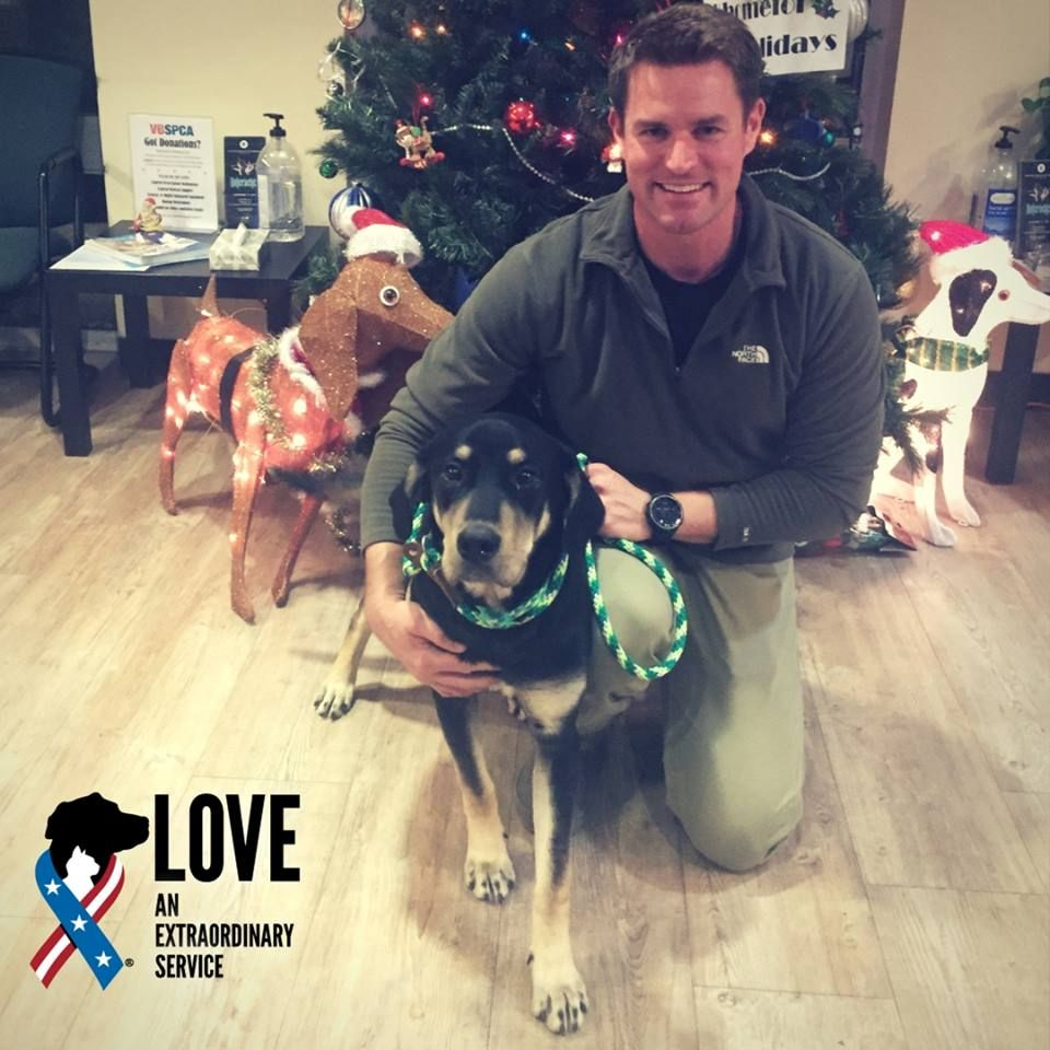 Ryan Is Career Navy And Just Made Prince His First Mate The Pair Were Adopted Through Our Partnership With Vbspca And J Animal Companions Pets Animal Shelter