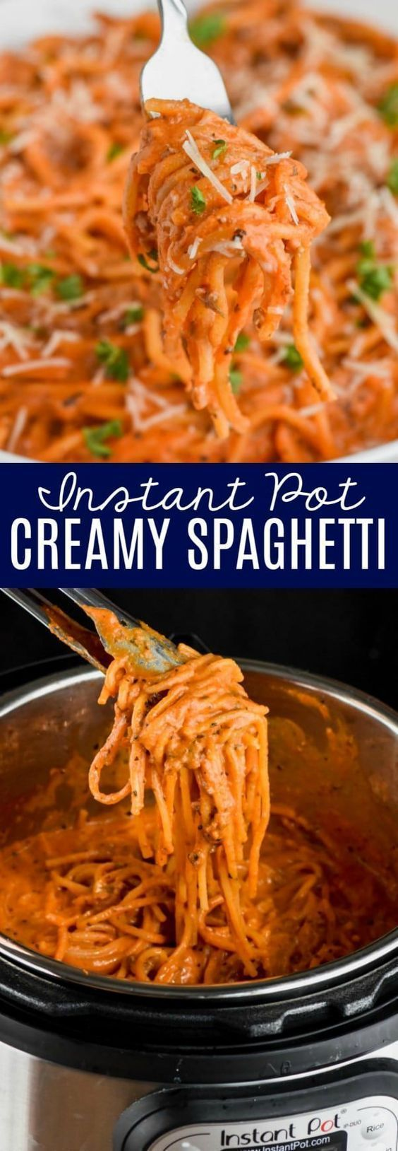 #weeknight #spaghetti #amazing #instant #perfect #creamy #minute #dinner #option #this #easy #and #p...