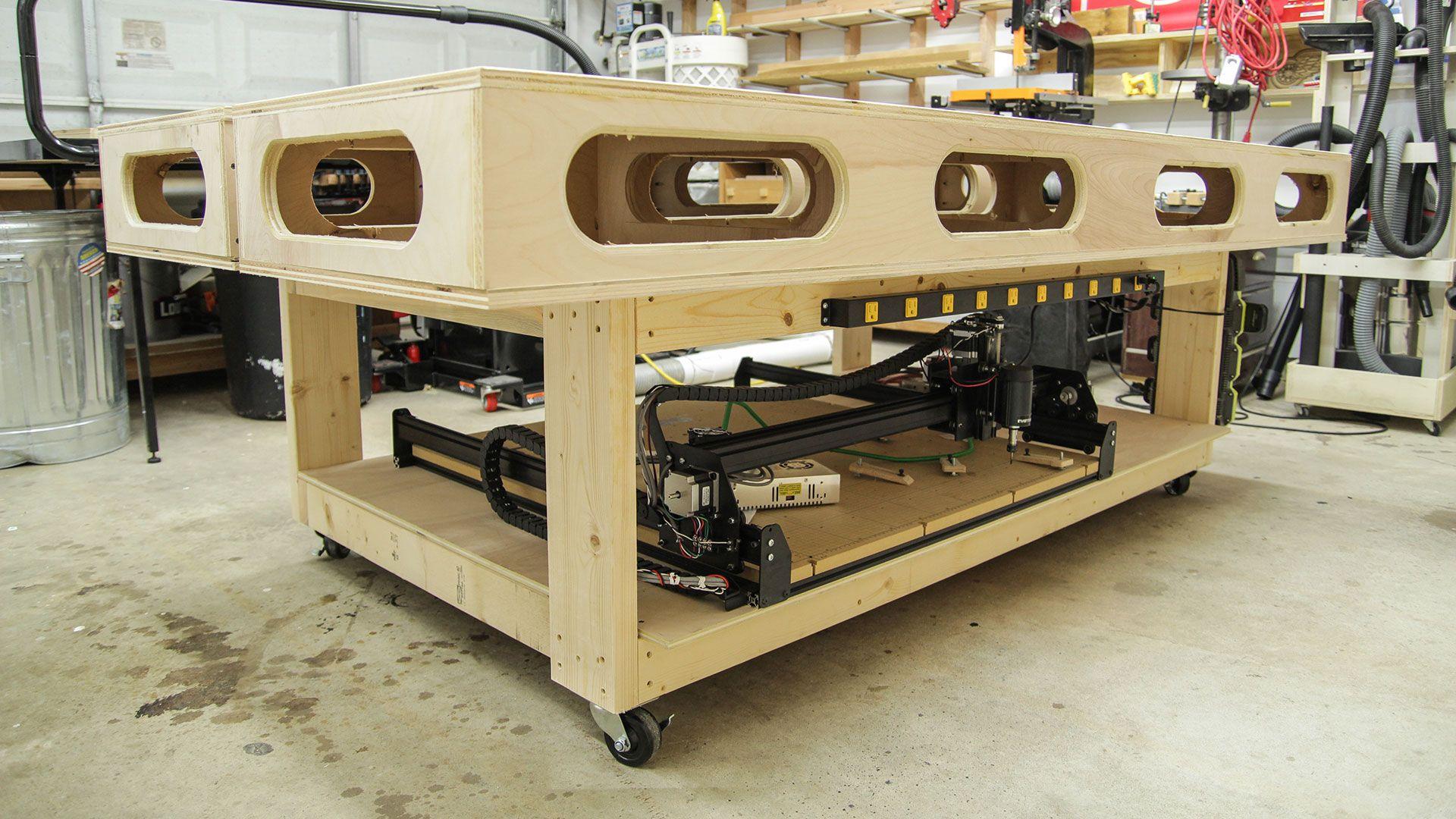 modified paulk workbench awesome wood workinghome ideas - Rolling Workbench