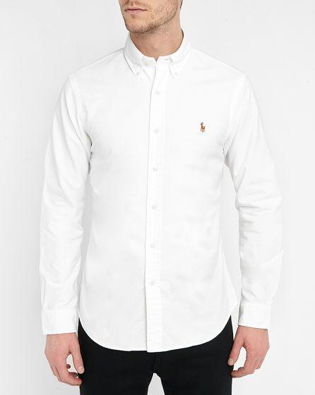 3ce5ecf10bcdb Slim-Fit White Oxford Shirt POLO Ralph Lauren