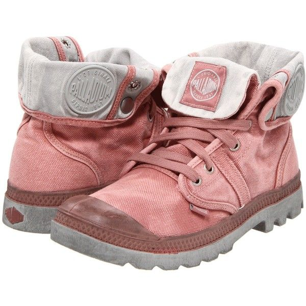 Palladium Pallabrouse Baggy Women's Boots, Pink ($65) ❤ liked on Polyvore  featuring shoes