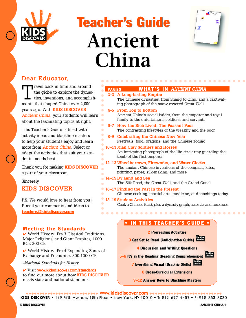 Worksheets Ancient China Worksheets this free lesson plan on kids discover ancient china provides a guide to teach about